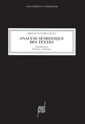Analyse Sémiotique des textes : Introduction, Théorie, Pratique