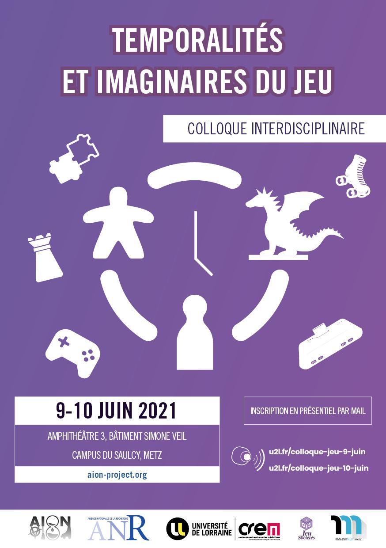 09 et 10 juin : Temporalités et imaginaires du jeu